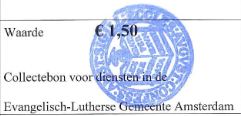 Collectebonnen €1,50 x 10 = €15,00