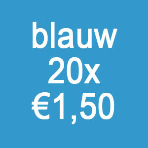 Blauwe collectebonnen €30,00 (20 x €1,50)