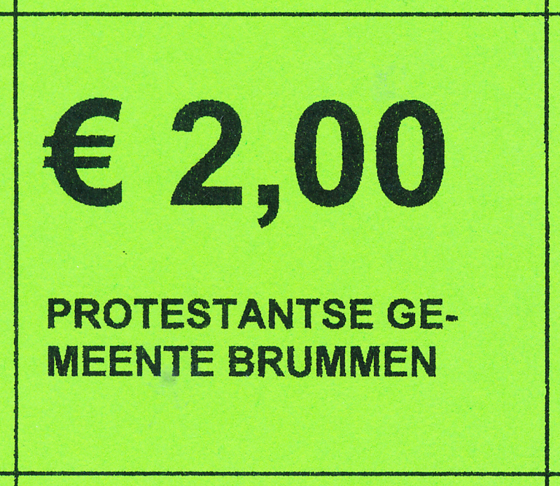 Collectebonnen €2,00 (20 x €2,00)
