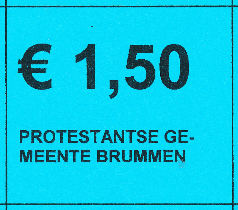 Collectebonnen €1,50 (20 x €1,50)