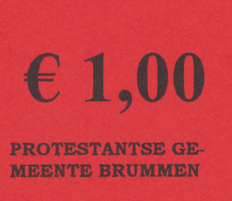 Collectebonnen €1,00 (20 x €1,00)