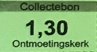 Collectebonnen in coupures van € 1,30