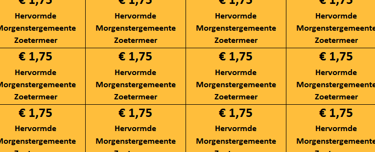 Collectebonnen € 1,75 (oranje)
